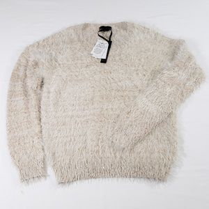 NWT JEANS BY FUFFALO BRONZE SEQUINS Sweater.